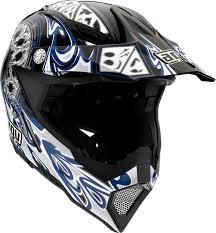 black motocross helmets agv ax 8 5 gothic flame motocross helmet black blue