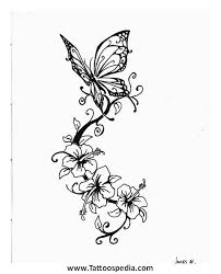 butterfly designs shoulder blade 2