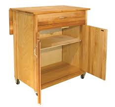 Kitchen Island Cart With Drop Leaf by Catskill Craftsmen Mid Sized Two Door Cart With Drop Leaf Model 51533