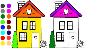 house coloring page l coloring book learn colors for children