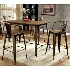 furniture of america tripton industrial counter height dining