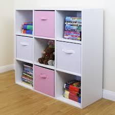 storage cube shelves 9 cube kids pink u0026 white toy games storage unit girls boys bedroom