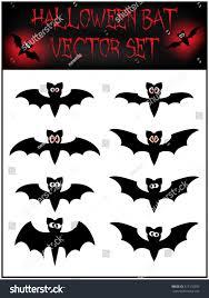 vector set halloween bat silhouette illustration stock vector