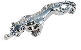leopard car ornaments silver chrome alex nld