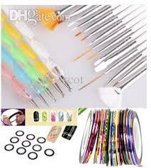 nail art tools brushes nail art dotting pen nail striping tape set