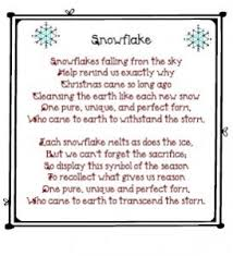 snowflake poem printable love this christmas craft connection
