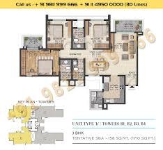 floor plan sector 108 sobha city