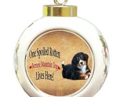 bernese mountain ornament etsy