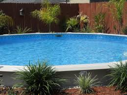 Small Backyard Above Ground Pool Ideas Outdoor Interesting Landscaping Around Above Ground Pool 2017
