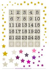 free printable advent calendar numbers and stars numery i