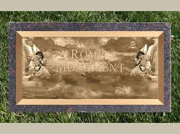 Flat Grave Markers With Vase Flat Bronze Grave Marker And Headstone Designs Rome Monument