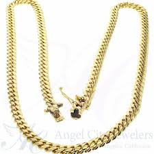 gold cuban necklace images Solid 10k yellow gold cuban link chain necklace jpg