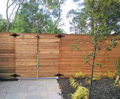 modern horizontal cedar fence straight line and great designs