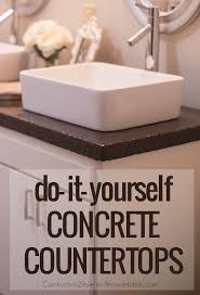 How To Make A Bathroom Sink Skirt by Diy Concrete Countertops In A Beautiful Master Bathroom Renovation