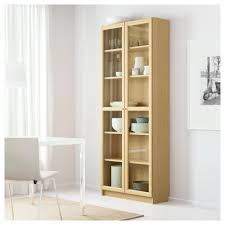 Ikea Billy Bookcases With Glass Doors by Billy Oxberg Bookcase Oak 80x202x30 Cm Ikea