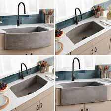 Concrete Bathroom Sink by Farmhouse Quartet Curved Apron Front Sink Native Trails