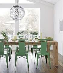 Ideas For Dining Room Decorating In Yelow And Green Colors - Green kitchen table