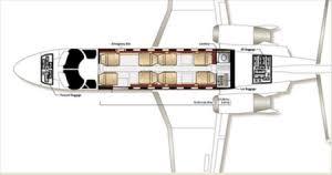 Private Jet Floor Plans Private Light Jet Citation V