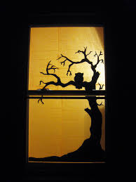 halloween tree window silhouette sprinkleofhappiness