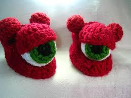 crochet pattern slipper shoe cyclops monster slipper