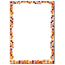 fall border autumn resources leaves themed border no lines places