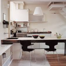 cuisine avec table cuisine moderne stock photo wooden dining table and kitchen