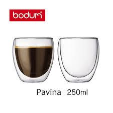 bicchieri bodum bicchieri in vetro borosilicato 0 25 l pavina bodum unit罌