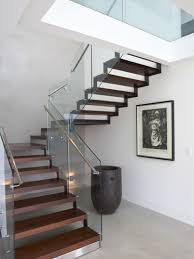 U Stairs Design China U Shape Stairs With Side Steel Stringer Wood Step And Glass