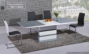 white and gray dining table arctic extending dining table in grey from giatalia extending