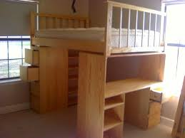 Diy Bunk Bed With Desk Under by Full Size Loft Bed With Desk Underneath And Storage U2014 All Home