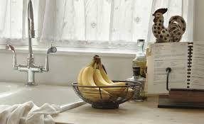 Cute Kitchen Window Curtains by Decor Awesome Kitchen Window Treatment And Brown Curtain Awesome