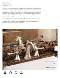 Grohe Bathroom Faucets Brushed Nickel Grohe Bath Shower