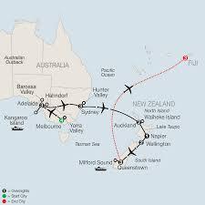New Zealand Map Australia New Zealand And Fiji Wine Tours Globus