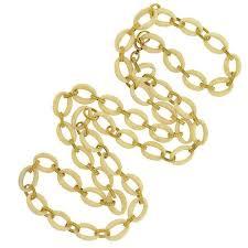 large gold link necklace images Vintage necklaces a brandt son jpg