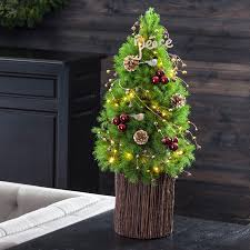 live decorated tabletop christmas trees from jackson u0026 perkins