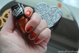 autumn nails collection nail polish in scorched copper what