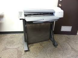 hp designjet 110plus nr large format inkjet printer with stand