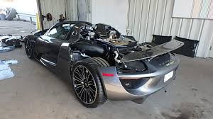 porsche 918 front wrecked porsche 918 spyder to be sold off at auction