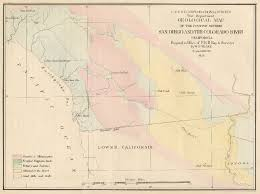 Colorado River On A Map by Sdag Online Historical Geological Maps San Diego County