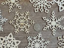 3 inch snowflake wood ornaments 10 pack style mix