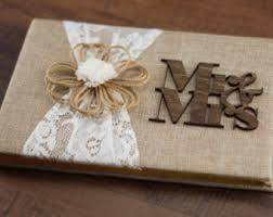 rustic wedding guest books rustic guest book burlap lace guest book burlap guest