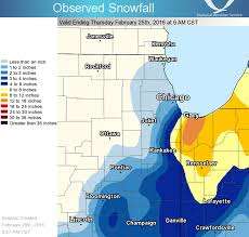 Bloomington Illinois Map by Recap Of February 24 2016 Heavy Snow