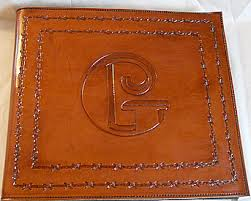 Leather Photo Albums Engraved Leather Wedding Albums Personalized Custom Cardstock Extra Large