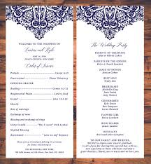 traditional wedding program wedding ceremony programs card traditional wedding