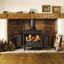 fireplace cozy living room decoration with black metal