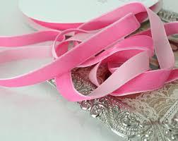 pink velvet ribbon velvet ribbon etsy
