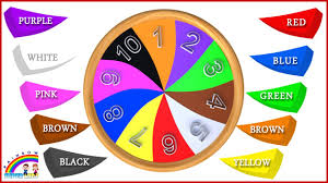Pink Color Wheel by Learn Colors And Numbers With Wooden Color Wheel Educational Toys