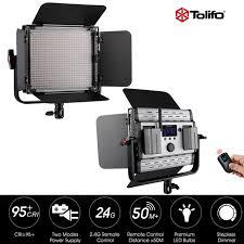 remote audio video lighting tolifo gk 600mb 2 4g wireless remote control led video studio light