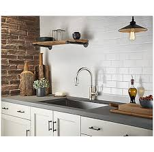 Pewter Kitchen Faucets by Stainless Steel Breckenridge Pull Down Kitchen Faucet F 529