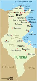map of tunisia with cities cities map